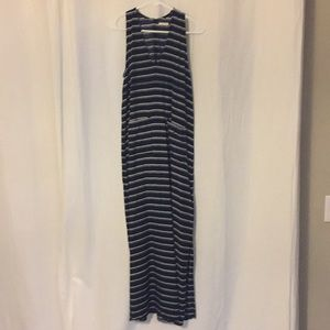 LILYA // Navy and white striped maxi. Worn once.